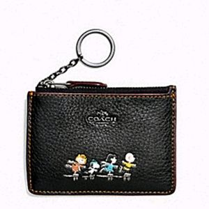 Coach Boxed Mini Skinny Id Case with Snoopy N